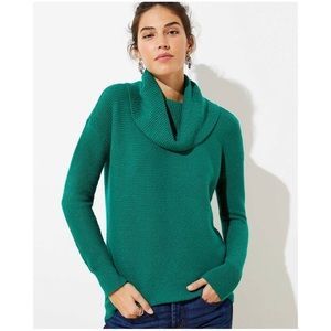 LOFT cowl turtleneck sweater